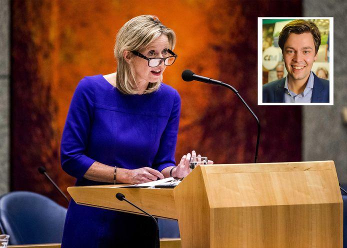 Minister Kajsa Ollongren en CDA-Kamerlid Julius Terpstra.