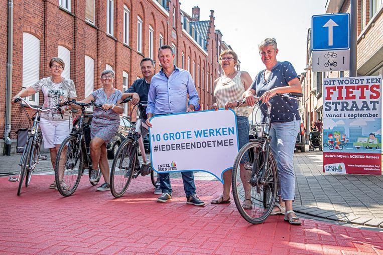 Err zijn vier nieuwe fietsstraten in de gemeente.