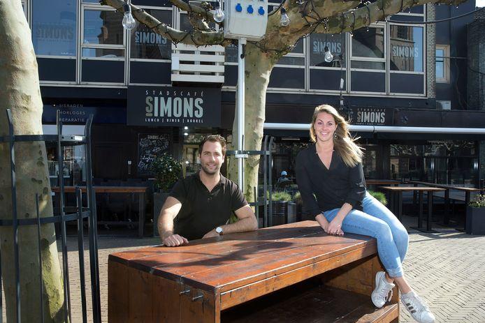 Robby Welling en Elise Welling-Van der Eerden  van Stadscafé Simons.