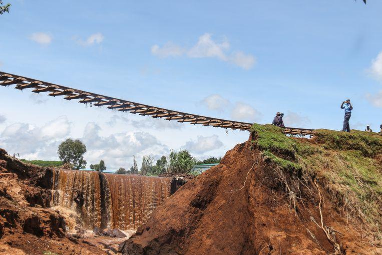 In buurland Kenia zijn in de voorbije weken bijna 200 mensen overleden door overstromingen.  Beeld SOPA Images/LightRocket via Gett