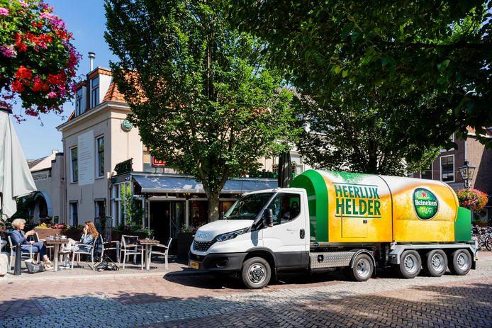 De biertankwagen van Heineken.
