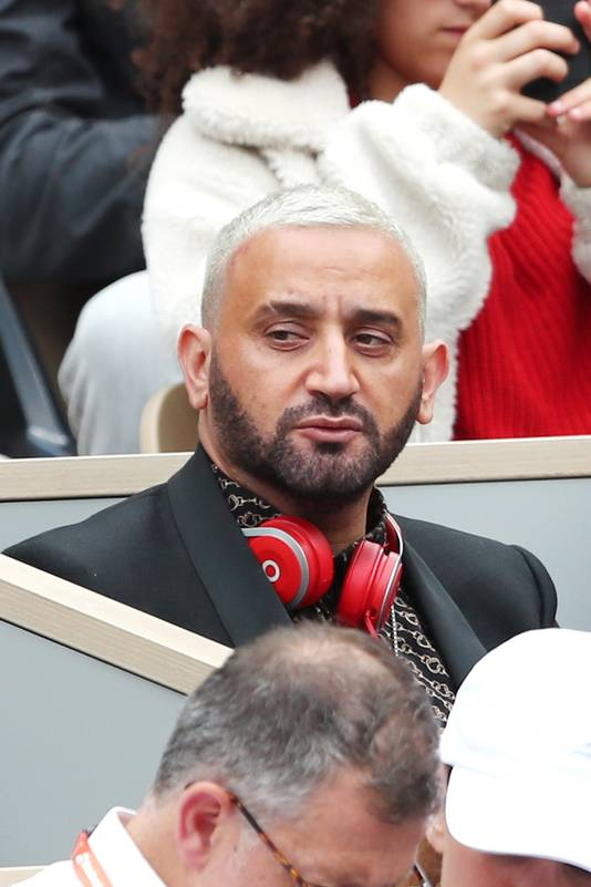 Cyril Hanouna dans les tribunes des Internationaux de Roland Garros, le 29 mai 2019.