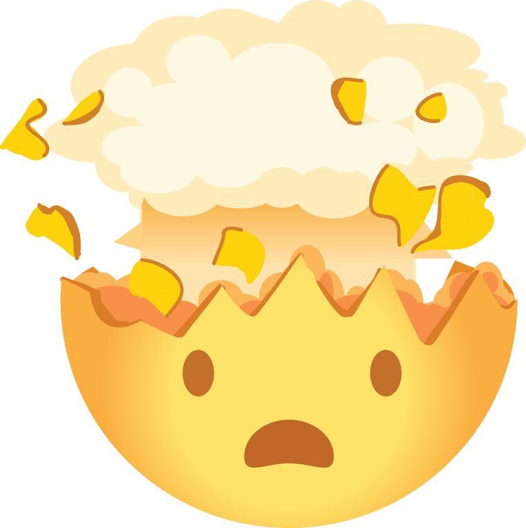 De mind blown-emoji. Beeld