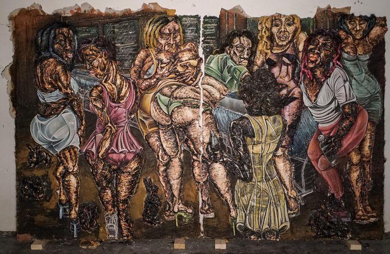 Ron Lang Art, Raquel van Haver: Violent Feminism H*'s in Toilet||Dancehall version explicit Beeld courtesy Ron Lang Art galerie