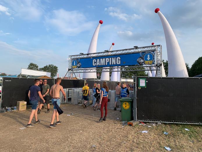 De ingang van de camping van de zwarte Cross in Lievelde.
