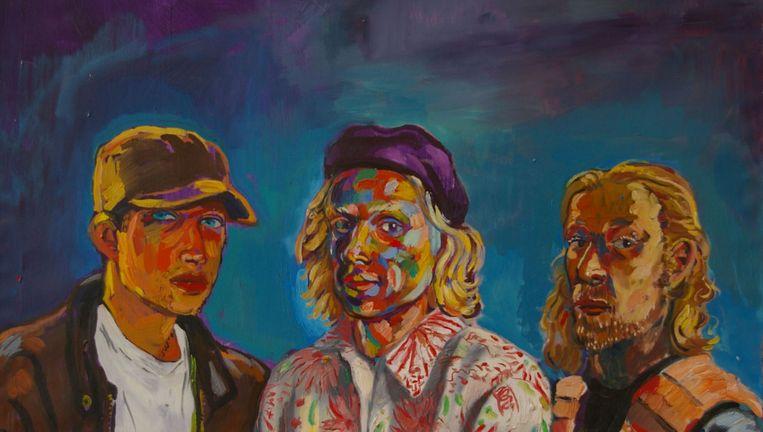 Zelfportret uit 1995. De broers hebben zichzelf geschilderd. Beeld
