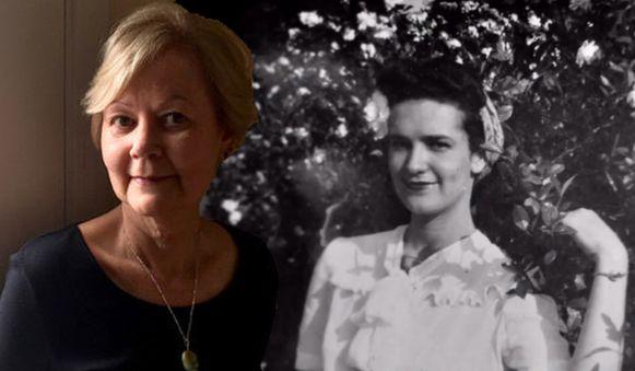 Gail naast een oude foto van haar moeder, die een groot geheim verborg.