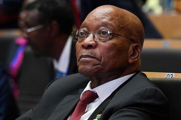President Jacob Zuma van de Zuid-Afrikaanse regeringspartij ANC kwam in opspraak door verschillende corruptiezaken.