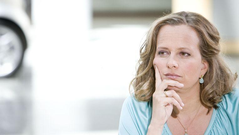 Lousewies van der Laan in 2010 tijdens de opnames van het programma All Women on Top. Beeld anp