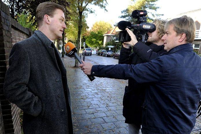 Vaak in het nieuws: pastoor Harm Schilder. foto John Schouten/PVE