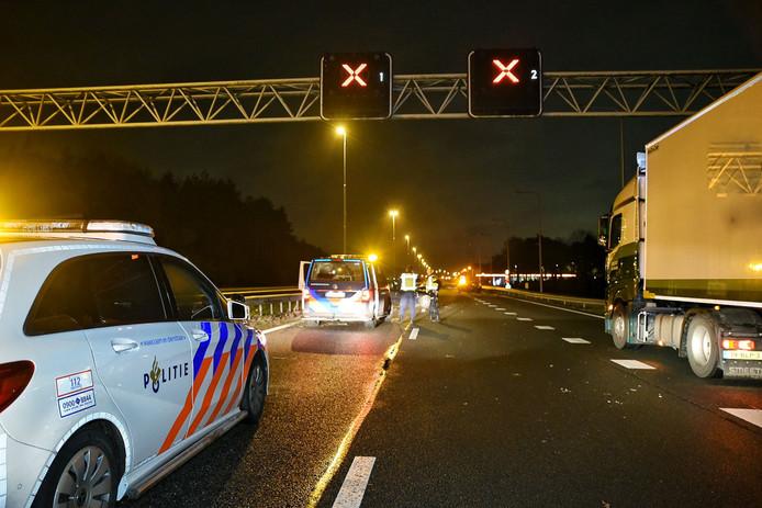 Ongeval met meerdere auto's op A58 Oirschot-Eindhoven.