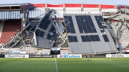 Deel van dak AZ-stadion ingestort door storm