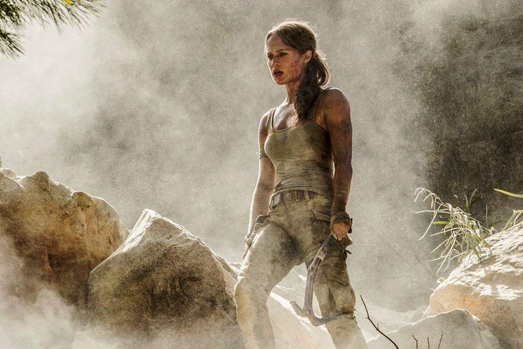 Alicia Vikander in 'Tomb Raider'.