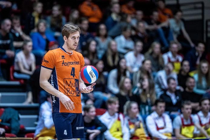 Joris Marcelis is bezig aan zijn laatste periode als actief volleyballer. Foto Jan van den Brink