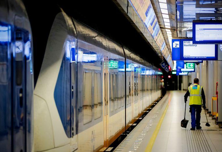 Geen treinverkeer van en naar Schiphol
