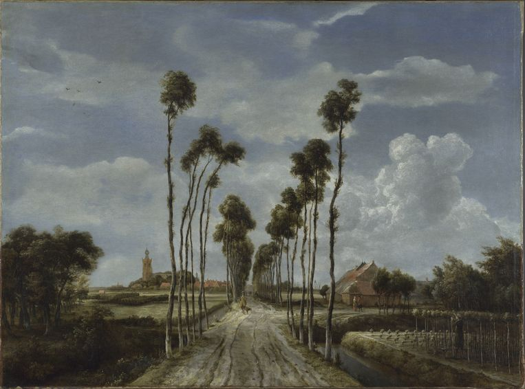 Meindert Hobbema, Het laantje van Middelharnis (1689). Beeld The National Gallery, London