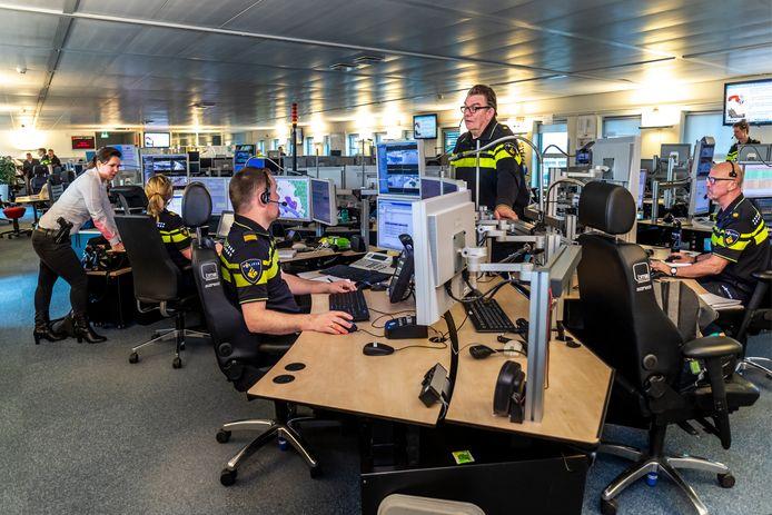De Meldkamer van politie Utrecht.