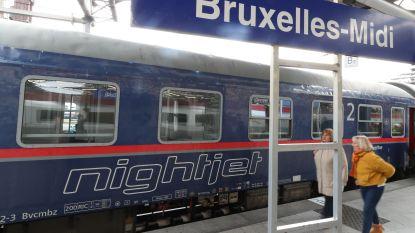 Eerste nachttrein uit Wenen arriveert zonder vertraging in Zuidstation
