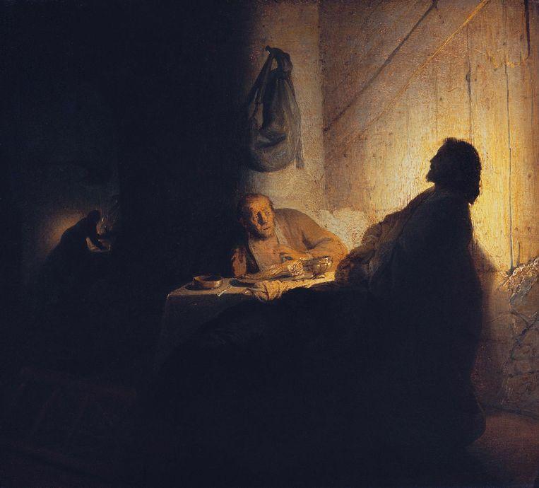 Rembrandt van Rijn, Christus te Emmaus (ca. 1628).  Beeld Musée Jacquemart-André – Institut de France, Parijs