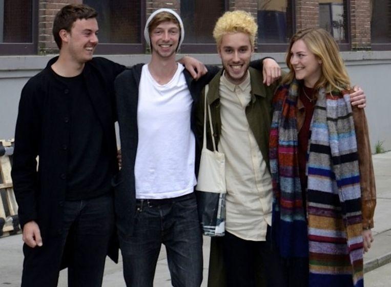 De brouwers: Bernell, Abel, Joris en Valerie Beeld