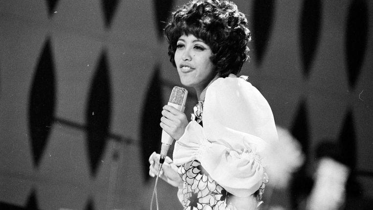 Sandra Reemer op het Songfestival in 1968 Beeld anp