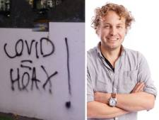 Wie 'covid = hoax' op een muurtje spuit, pist op het graf van elke coronadode
