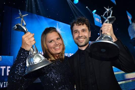 Actrice Nathalie Meskens en Thomas Vanderveken.