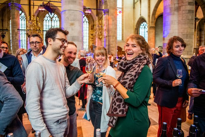 Eerder deze maand werd het 125-jarig jubileum gevierd met een wijnproeverij in de Laurenskerk. Archieffoto: Frank de Roo