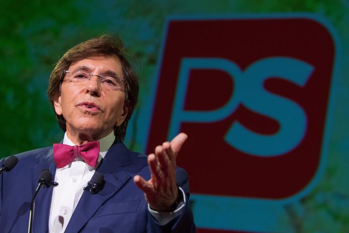 Elio Di Rupo lors du meeting du 1er Mai du PS à La Louvière.