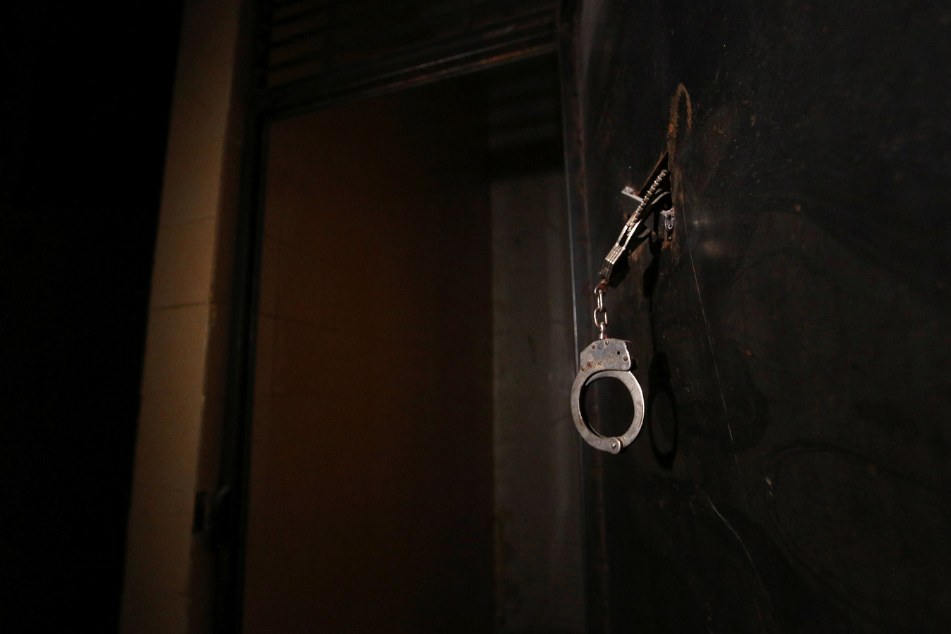 Detailfoto van een gevangenis in Syrië.