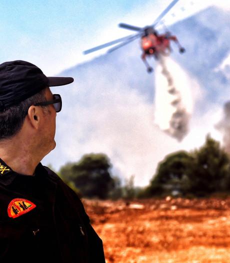 Un important feu de forêt à une soixantaine de kilomètres d'Athènes