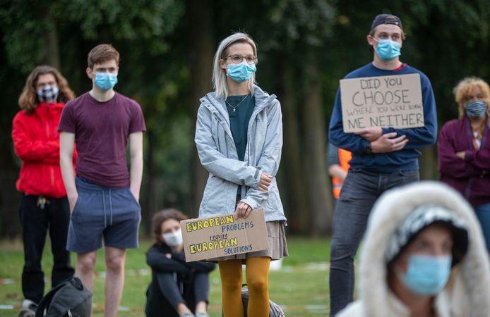 Stil protest in park Noordwest.