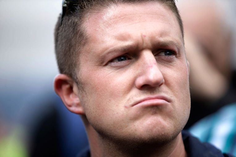 Tommy Robinson Beeld Getty Images