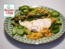 Recept van de dag: Malse kipfilet met krokante asperges en kerriekruim