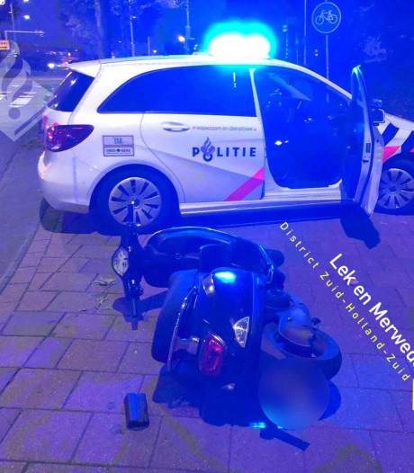 Bestuurder bromfiets vlucht na achtervolging in Gorinchem