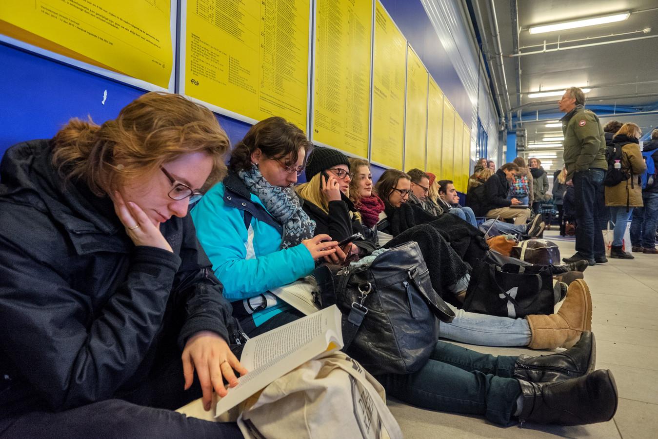 Als gevolg van een stroom - en wisselstoring moesten veel treinpassagiers wachten op Utrecht Centraal Station. (archieffoto)