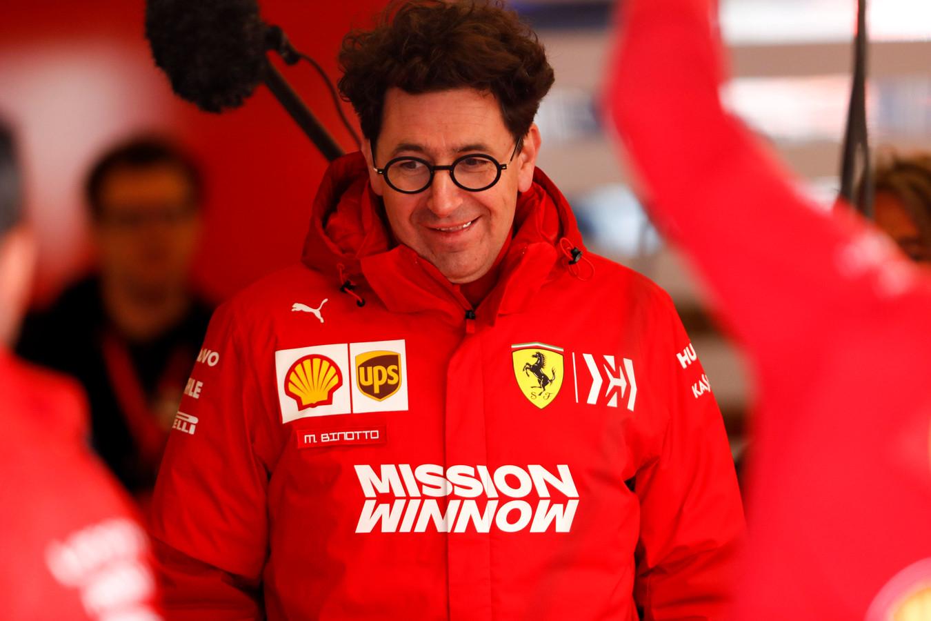 Teambaas Mattia Binotto van Ferrari.
