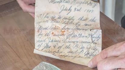 Briefje van 112 jaar oud gevonden bij renovatie Amerikaanse universiteit