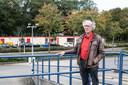 Bert Mulder bij de teststraat bij het CWZ.