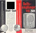 Nazi-design. Een poster voor een Volksempfänger, een radio gemaakt in opdracht van het Nazi-regime.