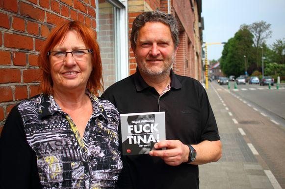 Trees Heirbaut en Jef Maes, respectievelijk auteur en filmmaker van 'Fuck Tina!', het verhaal van Nigel Williams.