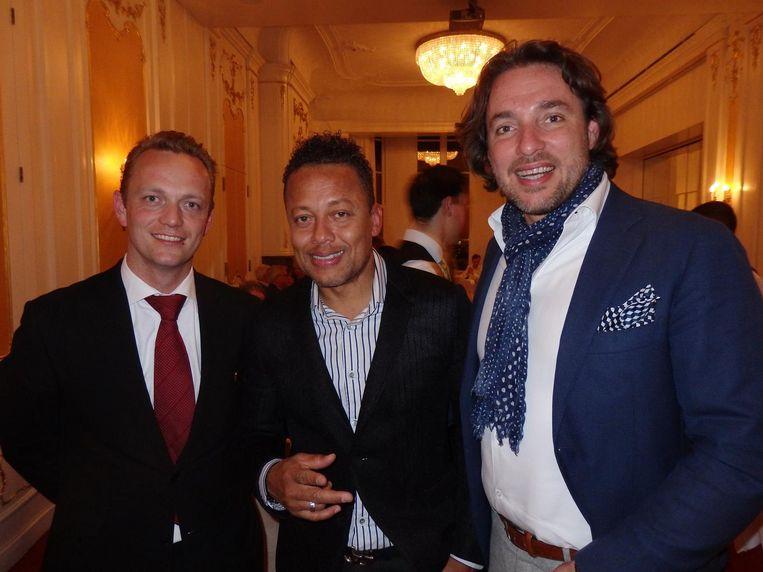 Johannes van der Kooi (Hotel de l'Europe), Sam de Wit ('Van Re-Play, je weet toch.') en Claudio Papone (Mioretti, op maat gemaakte schoenen zijn dat, vlnr) Beeld Schuim
