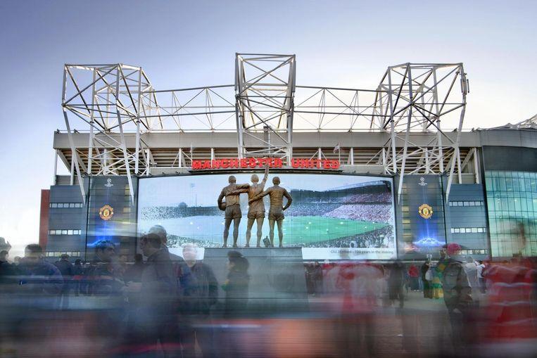 Het stadion van Manchester United. Beeld null