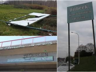 'Dilbeek, waar Vlamingen thuis zijn' staat en hangt al 43 jaar in het straatbeeld, maar is deze slogan nog maatschappelijk aanvaardbaar?