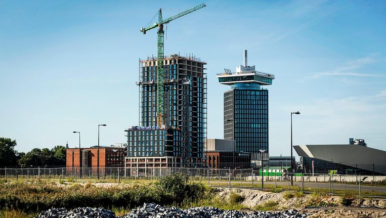 Het project B'mine, waar de huren van middeldure vrije sectorwoningen snel kunnen stijgen. Beeld anp