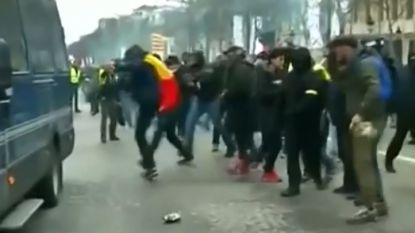 Zeven Belgen opgepakt bij gewelddadig protest gele hesjes in Parijs