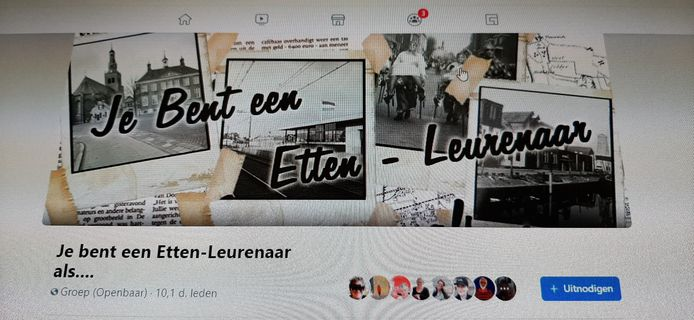 Screenshot Facebookpagina Jee bent een Etten-Leurenaar als...