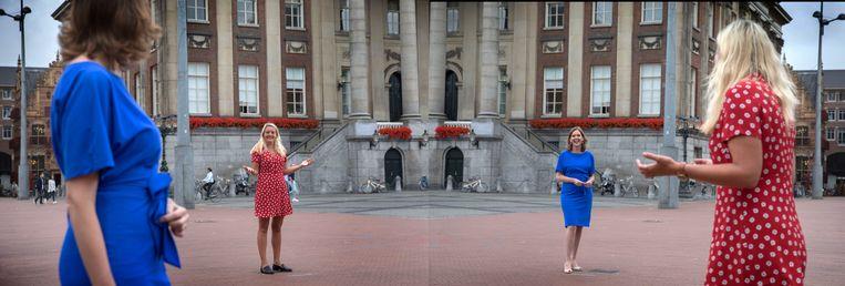 Tweede  Kamerleden uit het hoge noorden. In het blauw: Stieneke van der Graaf (ChristenUnie) en in rood: Sandra Beckerman (SP). Beeld Werry Crone