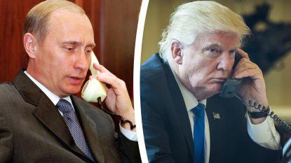 Trump feliciteerde Poetin, ook al werd hem in hoofdletters gevraagd om dat niet te doen