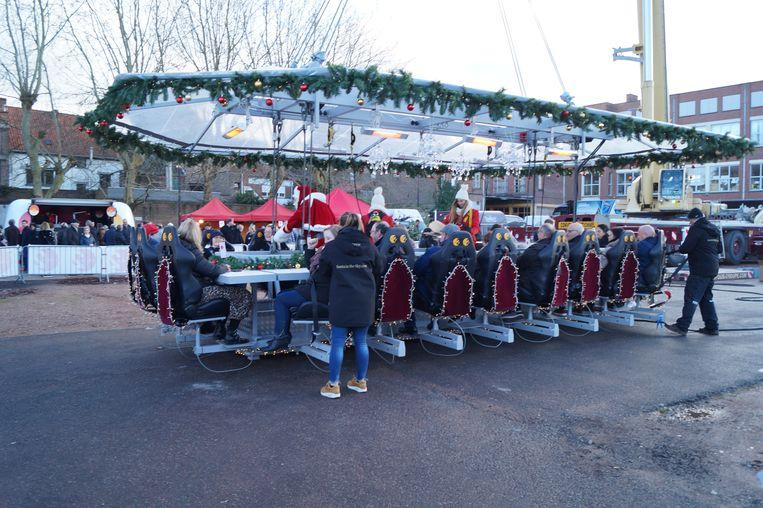 De Santa in the Sky-attractie in Tielt